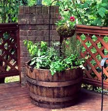 whiskey barrel herb garden u2013 elevation gardens elevation gardens