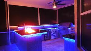 Led Strip Lights Kitchen by Kitchen Lighting Blue Led Strip Lights Over Kitchen Wall Cabinet