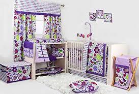 Purple Bedding For Cribs Botanical Purple 10 Pc Crib Bedding Set Crib