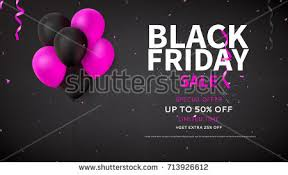 black friday pink sale black friday sale flyer template dark stock vector 711404152