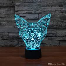 3d cat 3d night light table desk optical illusion lamps changing