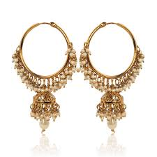 ear rings photos buy white hoop earrings with pearls by adiva abswe0bi0028 tds 6 online