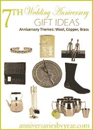 seventh anniversary gifts seventh anniversary 7th wedding anniversary gift ideas