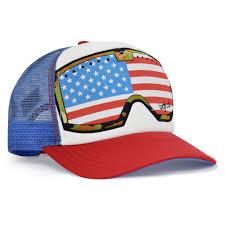 American Flag Flat Bill Hat Og G Line Red White Blue American Flag Goggle U2013 Bigtruck