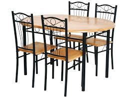 table de cuisine 4 chaises ensemble table et chaise de cuisine 4 chaises sally noir pas