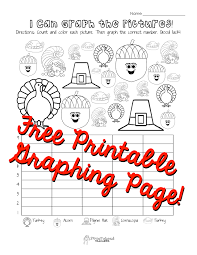 math worksheets thanksgiving graphing page kindergartenrst grade i