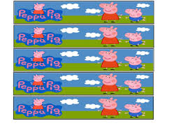 peppa pig water bottle labels