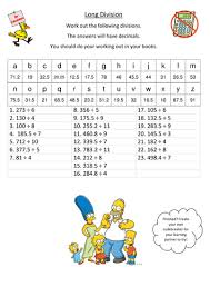 long division with decimal answers codebreaker by missblilley