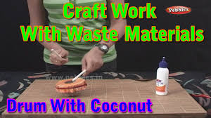 drums craft work with waste materials learn craft for kids