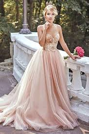 blush wedding dress pink wedding dress for the popfashiontrends