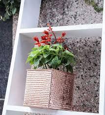 buy hammered gold planter in gold by color palette online