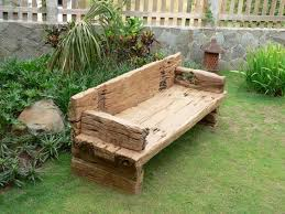Garden Wooden Bench Diy by Garden Sleepers Ideas Reclaimed Railway Sleepers Diy Garden