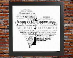 60th anniversary gift 60th wedding etsy