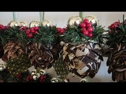 how to folded fabric pinecone ornaments
