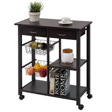 kitchen storage islands costway rolling kitchen trolley cart storage island utility dining