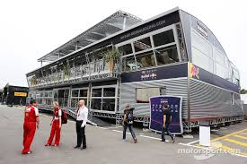 f1 motorhome the teams motorhomes set up in catalunya which one do you like