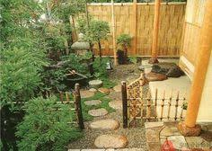 Zen Garden Design Meditation Spot Fung Shui Style With A Great Bamboo Fence Back