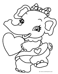 scared elephant coloring picture coloring pin drawn asian