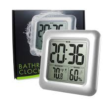 Bathroom Radio Clock Aliexpress Com Buy Baldr Waterproof Bathroom Clock Lcd Digital