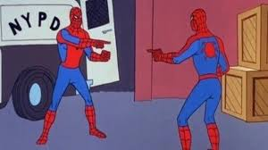 Spider Man Meme - spider man pointing at spider man know your meme