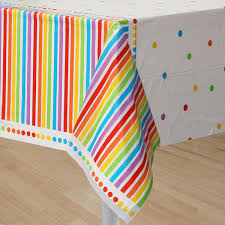 themed table cloth rainbow party table cover