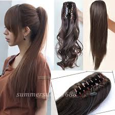clip in ponytail buy ponytail hair extensions