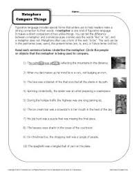 metaphors worksheets free worksheets library download and print