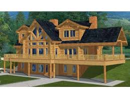log home floor plans with basement two house plan with walkout basement log house plans at