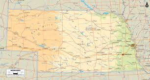 Map Of Time Physical Map Of Nebraska Ezilon Maps