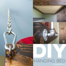 Loft Bed Hanging From Ceiling by How To Build A Hanging Bed For Under 100 Suspended Bed Plans