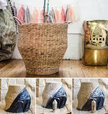diy gold dipped basket the vintage rug shop the vintage rug shop