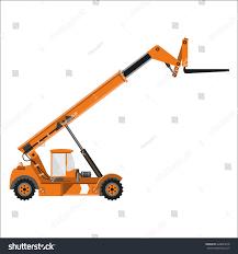 telescopic handler equipped fork vector illustration stock vector