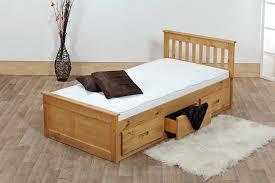 Wooden Bed 3ft Single Captain Cabin Storage Solid Pine Wooden Bed Bedframe