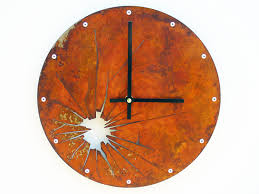 shattered metal medium rustic wall clock unique wall clock