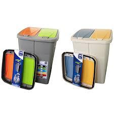 poubelle cuisine tri poubelle de tri sélectif cuisine 2 compartiments 2 x 22 5 litres