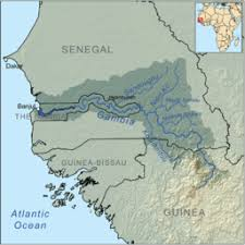 africa map gambia gambia river