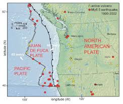 physical map of oregon juan de fuca plate juan de fuca plate page 1