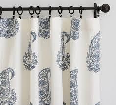 Paisley Curtains Blue And White Paisley Drape