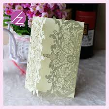pop up wedding invitations white lace wedding invitation card china supplier modern design