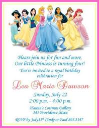 disney princesses personalized birthday invitations digital file