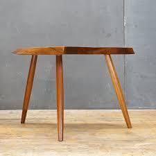 George Nakashima Furniture by George Nakashima Wepman Side Table Stool Modern 50 Artist