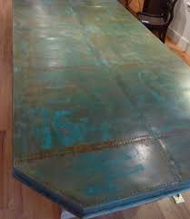 hammered copper dining table custom designed copper dining table