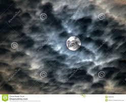 ominous sky moon and clouds stock image image of