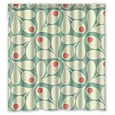 Amazon Com Shower Curtains - custom orla kiely colorful leaf waterproof bathroom shower curtain