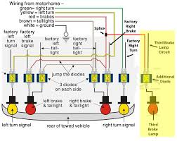 trailer light hook up wiring diagram third brake l circuit and additional diode