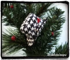 alabama houndstooth mini fedora trilby handmade ornament