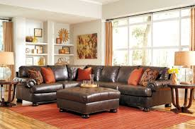 antique sectional sofa nesbit durablend antique large raf sectional from ashley 3160067