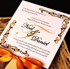 fan program fall fanciful wedding fan program citrine designs