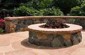 Custom Fire Pit by Denver Custom Outdoor Fireplace Metro Denver Co Landscape