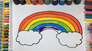 how to draw a rainbow coloring pages drawing and coloring for